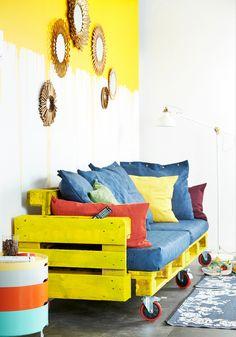 keltainen,kuormalava,kuormalavat,kuormalavasohva,unelmientalojakoti