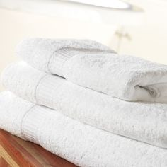 Platinum Towels 100% Cotton  Platinum Towels are 100% Cotton 550gsm white towel with a basket weave header. Available sizes range from small hand towels to large bath towels. Found in many leading UK hotels.