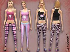 The Sims Resource: Women Pajama Set by Melisa Inci • Sims 4 Downloads