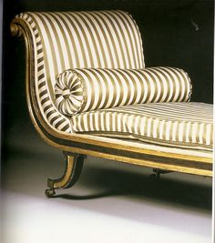 The Roman Chaise - those stripes.