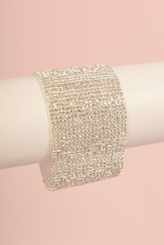 The Reina Bracelet Is absolutely stunning!  This unique piece is 4 inches wide and embellished with rhinestones.         http://www.brillantezza.com/