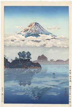 Tsuchiya Koitsu: Koshu Lake Kawaguchi — 甲州 河口湖 - Japanese Art Open Database