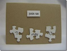 Use the backs of abandoned puzzle pieces to use on party invitations.