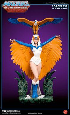 Estátua Sorceress Teela Na (Feiticeira) – He-Man e os Mestres do Universo