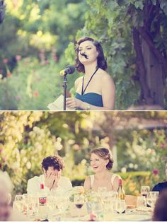 Maid of honor mustache