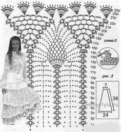 Vit lång kjol diagram
