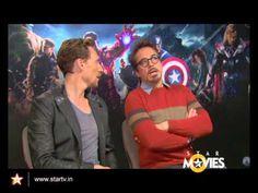 Robert Downey Jr and Tom Hiddleston!
