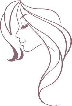 woman profile head silhouette - Google Search