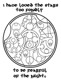 Quote written in circular Gallifrean, from Doctor Who