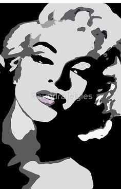 Marilyn Beauty and Shadows:Saundramylesart