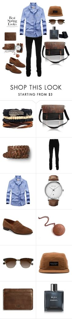 """School guy vibes."" by paraebrand ❤ liked on Polyvore featuring Gap, AMIRI, Georg Jensen, Lloyd, EyeBuyDirect.com, Raised by Wolves, Shinola, Chanel, Truly Organic and H&M"