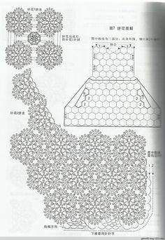 【转载】背心裙 - 荷塘秀色 - 茶之韵 Crochet Diagram, Crochet Motif, Crochet Shawl, Crochet Designs, Crochet Flowers, Crochet Top, Crochet Patterns, Japanese Crochet, Crochet Tablecloth