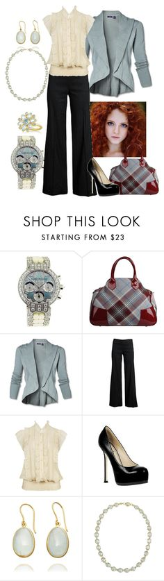 """Aqua/Cream/Black"" by manda3482 ❤ liked on Polyvore featuring J&P, Vivienne Westwood, Forever 21, Yves Saint Laurent, Pippa Small, Marie Hélène de Taillac and MUNNU The Gem Palace"
