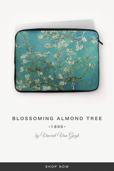 """""""Blossoming Almond Tree"""" by Vincent Van Gogh Vincent Van Gogh, 7 And 7, Back To Black, Laptop Sleeves, Snug, Almond, Metal, Fabric, Accessories"""