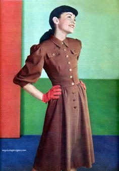 Seventeen Magazine October 1946 photo by Francesco Scavullo