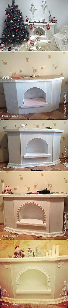 Una chimenea hecha con cajas de cartón reciclado: ¿quieres saber ...