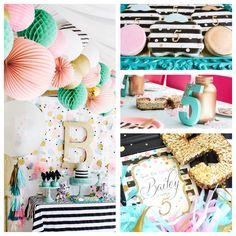 ADORABLE cue the confetti themed birthday party via Kara's Party Ideas!