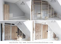 Wardrobe With Reclaimed Doors in an upstairs with a sloping ceiling. Wardrobe With Reclaimed Doors in an upstairs with a sloping ceiling.