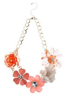 Cato Fashions Flower Bib Necklace #CatoFashions