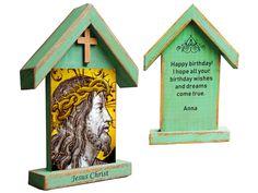Shrine Jesus Christ, catholic gift, devotional art, crucifixion of Jesus Christ, bible verse Crucifixion Of Jesus, Jesus Christ, It's Your Birthday, Birthday Wishes, Catholic Crucifix, Meditation Altar, Jesus Art, Catholic Gifts, Jesus Pictures