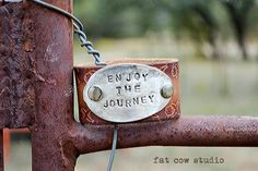 vintage leather cuff silver spoon hand stamped by fatcowstudios, $45.00