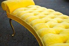 yellow velvet bedding | ... Regency Style Tufted Bed Side Bench - Yellow Velvet in Parents bedroom