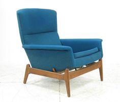 FOLKE OHLSSON Dux Mid Century Danish Modern Reclining Lounge Chair Teak | eBay