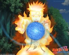 Uzumaki Naruto, Kyuubi (NARUTO), Gold Skin, Rikudou Mode