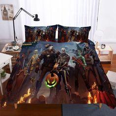 Fortnite Night Theme Digital Printing Bedding Household Items No1 Bohemian Bedding Sets, Boho Comforters, Pumpkin Lights, Bedroom Sets, Cosy Bedroom, Ikea Bedroom, Bedrooms, Linen Bedding, Bed Linen