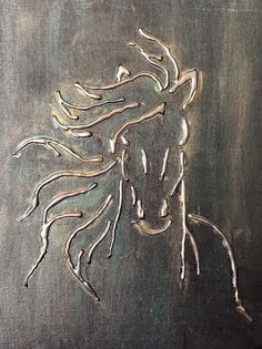 (Notitle) Horse 11 canvas board glue gun metal silver gold unframed abstract 25 wonderful handicrafts for your hot glue gun wonderful handicrafts for your hot glue gun(notitle) Horse 11 canvas board Glue Gun Projects, Glue Gun Crafts, Diy Crafts, Diy Canvas Art, Canvas Board, Hot Glue Art, Aluminum Foil Art, Glue Painting, 3d Painting On Canvas