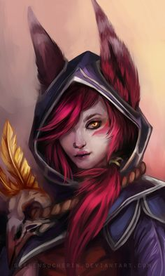 Xayah by Seelensucherin