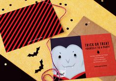 Dracula Party Halloween Party invitations by @oubly
