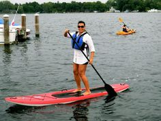Stand-Up Paddle Boarding - just tried for the first time this weekend at Lake Ozark, Super Dave's paddle craft adventures!  My new fav work out!