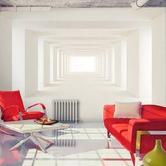 Vlies Tapete ! Top ! Fototapete ! Wandbilder XL ! 350x245 cm  TUNNEL OPTISCH 3D a-A-0124-a-b