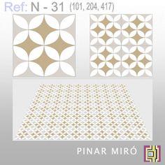 Cement tile N-31 - Pinar Miró - cement tiles