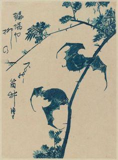 Utagawa Hiroshige: Bats
