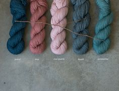 new colors in Tern: petrol, iron, rose quartz, basalt, and aventurine / quince & co
