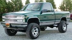 """1996 Chevy 4x4, with a 350 vortec, 4"""" Rough Country suspension lift with 305 / 70 BF Goodrich Mud Terrain tires, 16x10"""" Ion Alloy 165 wheels, True dual exhaust with not cats and 9"""" glass packs. Tips set at 90's. LOUD. Rockford subs, LED tail lights, 3rd brake light and light bar. Will only own a Chevy. Josh Focht, Eastern Shore Marlyand Chevy Pickup Trucks, Gm Trucks, Chevy Pickups, Chevrolet Trucks, Diesel Trucks, Lifted Trucks, Hot Rod Trucks, Cool Trucks, Chevy Ss"""