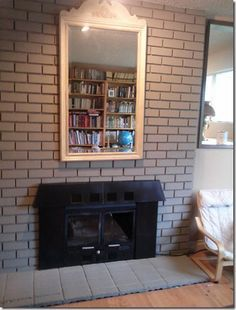 Brick fireplace makeover with Annie Sloan chalk paint... The only ...