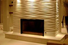 modular art wall panels for fireplace