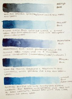 Colour chart as discussed in Aquarelle topic forum | Flickr - Photo Sharing!
