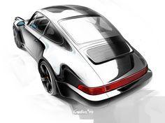 Porsche 911 (964) Reflections