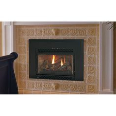 Majestic Natural Gas Amber Fireplace Insert