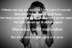 Barbie is a bad role model