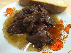 Králíci játra na červeném víně Food, Essen, Meals, Yemek, Eten