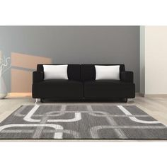 Shop for Persian Rugs Grey Abstract Lines Polypropylene Area Rug (7'10 x 10'0). Get free shipping at Overstock.com - Your Online Home Decor Outlet Store! Get 5% in rewards with Club O!
