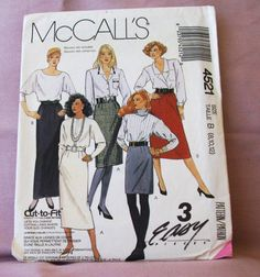 1989 Uncut McCalls Pattern 4521 Misses by lovelylovepatterns, $4.25