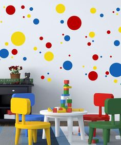 Look at this #zulilyfind! Primary Colors Dot & Spots Wall Decal Set…