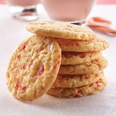 A crisp but chewy butter cookie studded with peppermint candy bits.