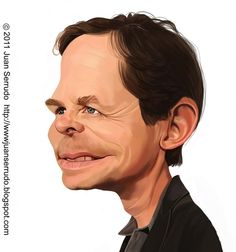 Caricatura de Michael J. Fox.